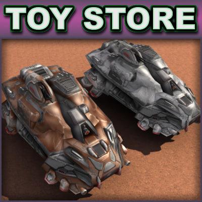 3d sci-fi armored car -