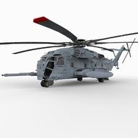 ch-53e super stallion helicopters 3d model