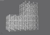 girder building 3d model