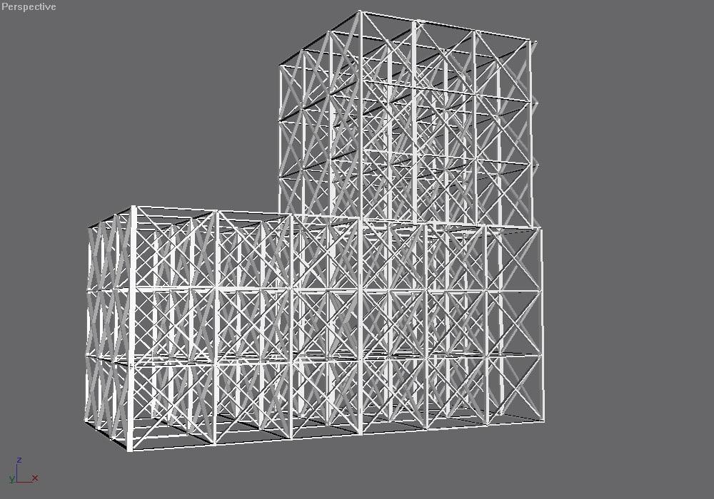 girder building 3d model