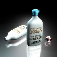 logo bottles 3d model