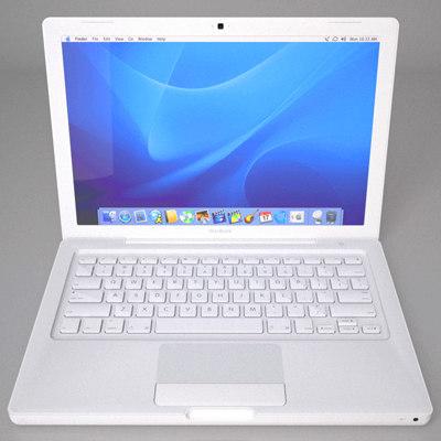 apple macbook 3d model