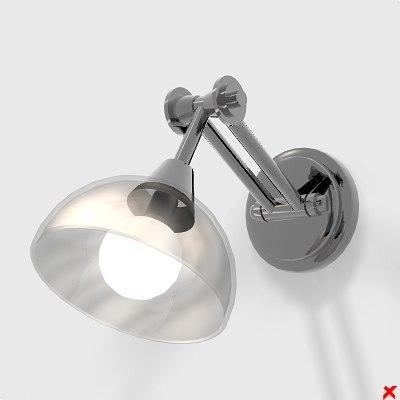 3d model of wall lamp