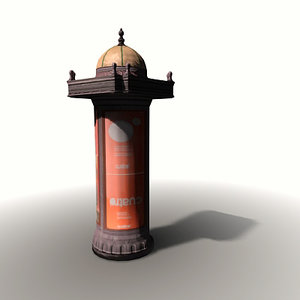 3d model ornamental public lavatory spain