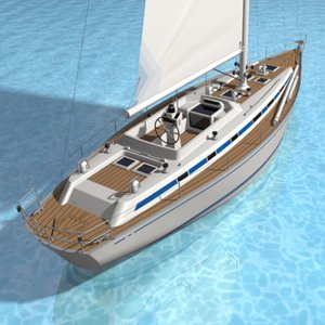 3ds max 55-foot sailboat