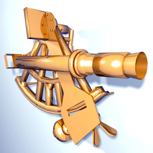 sextant navigation 3d model