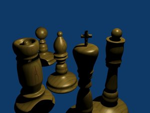 free chess pawn 3d model
