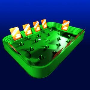 pinball ball 3d model