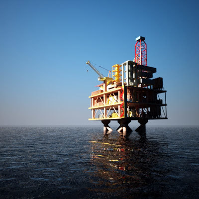 tension oil platform 3d model