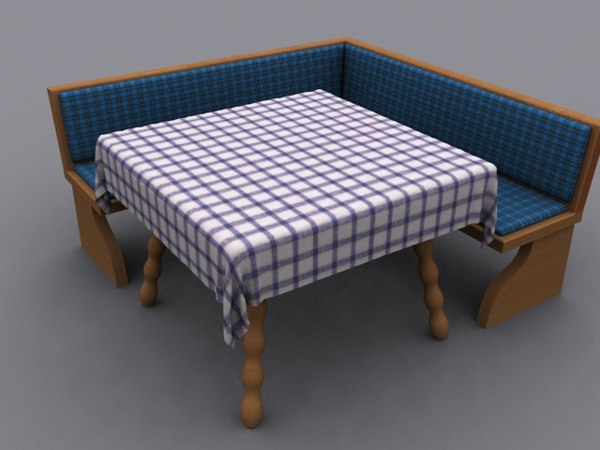 bench table 3d model