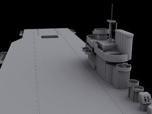 navy aircraft carrier 3d model