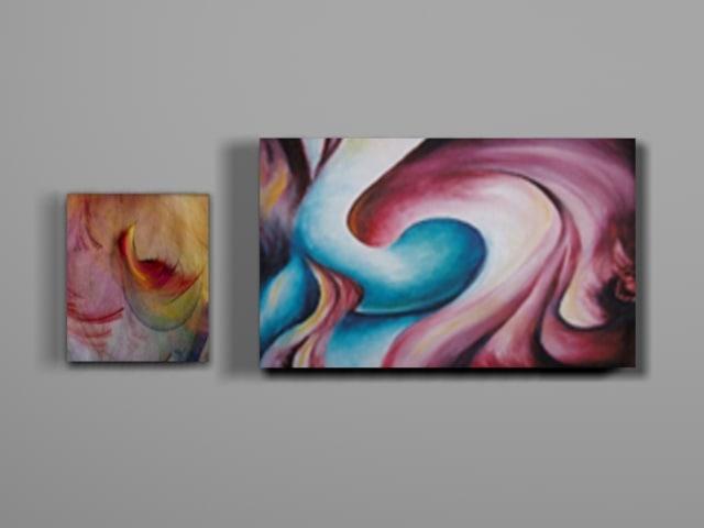 3d modern stylish paintings model
