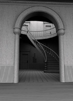 3dsmax historical staircase