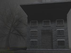 burial tomb 3d model