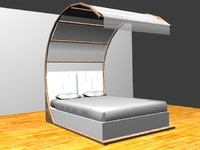 3d canopy bed