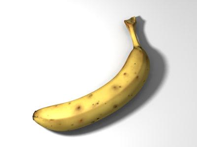 banana old bruised 3d obj