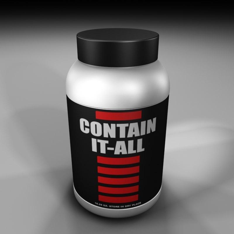 3ds max plastic container