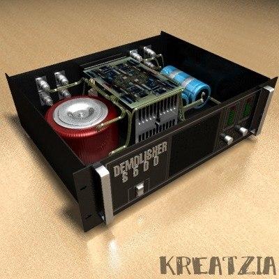 3d power amplifier project model