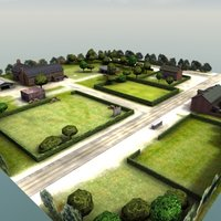 farm house buildings rt 3d model