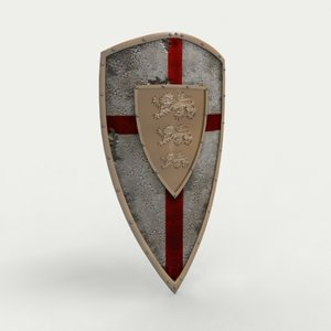 3d model medieval english shield