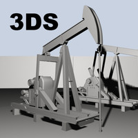 Oil Pump Drilling Rig 3DS Typicle Oilfield Pump Jack