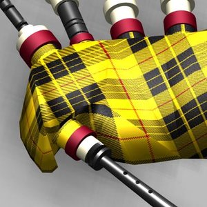 3d bagpipes tartans model