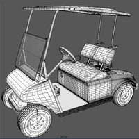 detailed golf cart