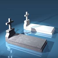 free grave gravestone 3d model