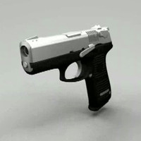 detailed silver and black handgun