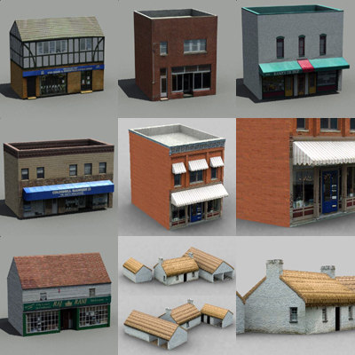 maya shops building 01