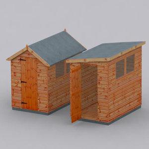garden sheds 3d model
