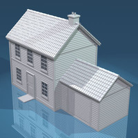 3d model house rooftiles roofs