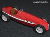 3d model classic racing car alfa romeo