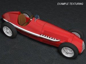 3d model classic racing car alfa romeo