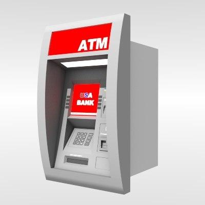 3d model cash machine atm