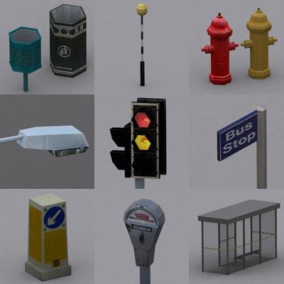 3dsmax street traffic light bin