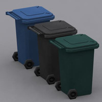wheelie bins 3d 3ds
