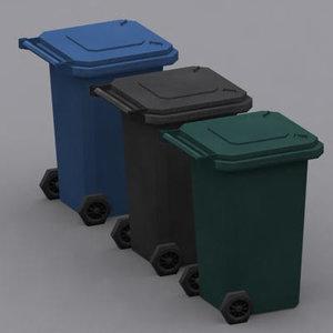 wheelie bins 3d 3ds