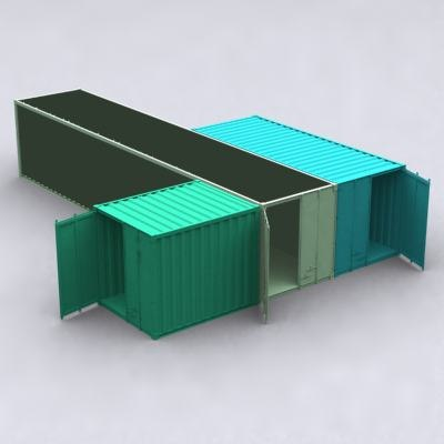 shipping containers 3d max
