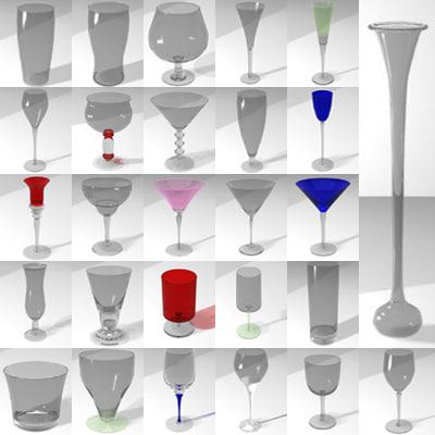 3d drinks glasses