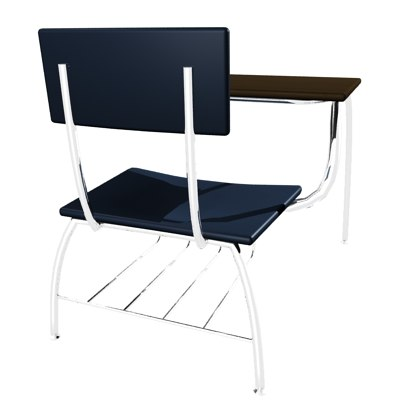 school desk and chair combo. Desk-chairs Combo Schools 3d Max School Desk And Chair M