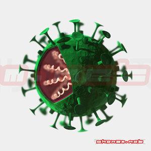 : virus 3d model