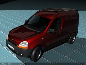 3d model renault kangoo van