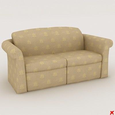 sofa loveseat 3d max
