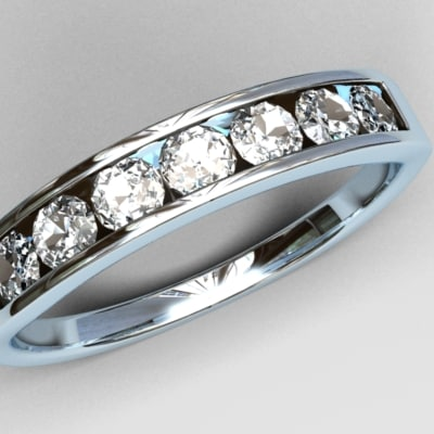 diamonds ring 3d model