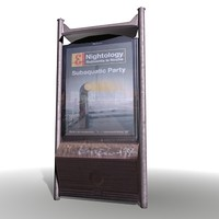 advert banner stand 3d 3ds