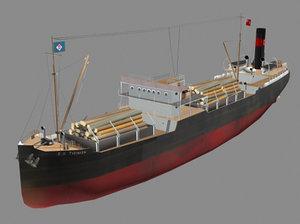 3d tramp cargo model