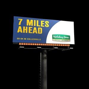 billboard board 3d 3ds