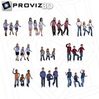 3D People: 30 Still 3D Children Vol. 01