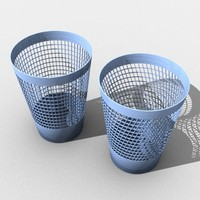 wastepaper basket 3d model